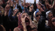 CAIRO -- Thousands of Egyptians protested Friday after a week of deadly riots that have shaken President Mohamed Morsi's grip on the nation and spurred fears that fresh unrest may lead to economic collapse.