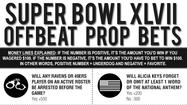 Super Bowl XLVII Prop Bets [Graphic]