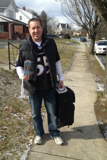leaving for the super bowl