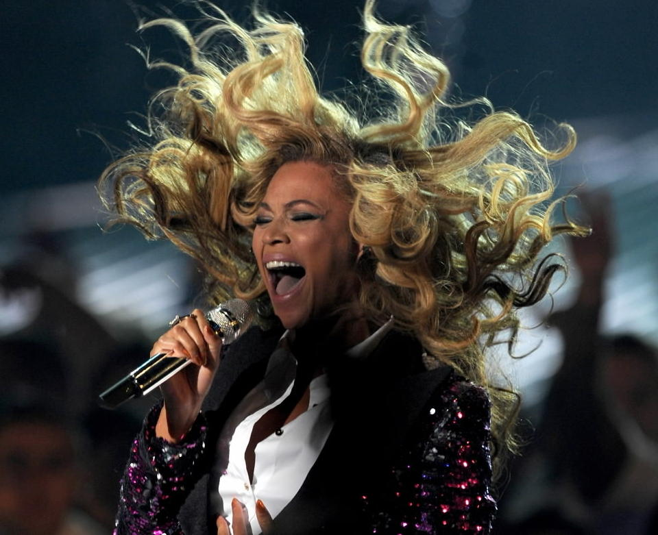 Singer Beyonce is the halftime entertainment at the 2013 Super Bowl.