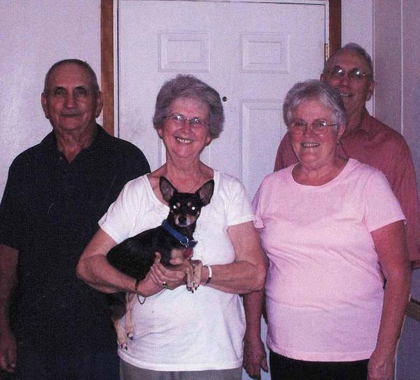 Jim Graybill, left, Lois Norris Graybill, Ada Kline Graybill and Robert Graybill