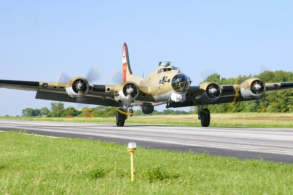 This WWII-era B-17 will be on display along with a P-51 and a B-24 at the Boca Raton Airport through Monday as part of the Wings of Freedom Tour.
