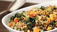 Recipe: Lentils with kale and butternut squash