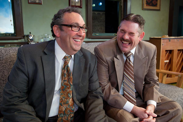 "Steve Purnick (left)and Philip Nolen star in ""Laughter on the 23rd Floor"" at Mad Cow Theatre."