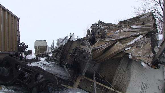 Train derails at ethanol plant