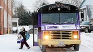 Catonsville students take Ravens bus to school