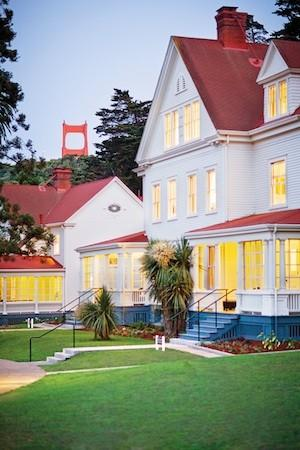 Historic Army buildings have been converted to guestrooms at Cavallo Point in Sausalito, Calif.