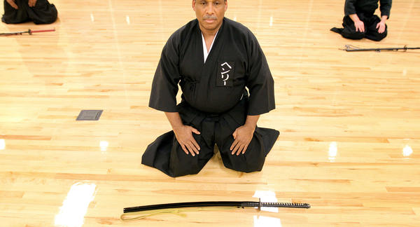 Shihan Henry McCoy leads a Japanese sword arts class at the Denbigh Community Center Wednesday January 23, 2013. The class meets weekly and focuses on four different aspects of the Japanese sword arts.