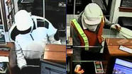 A man who robbed a Sheridan Park bank this morning is suspected of robbing the same bank late last year, according to the FBI.