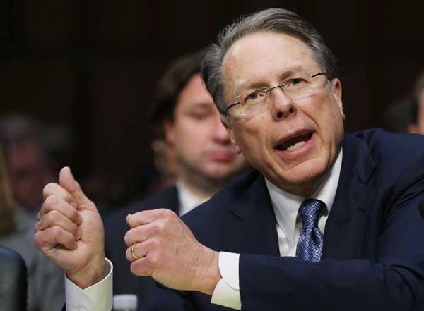 "Wayne LaPierre will be a guest on ""Fox News Sunday With Chris Wallace"""