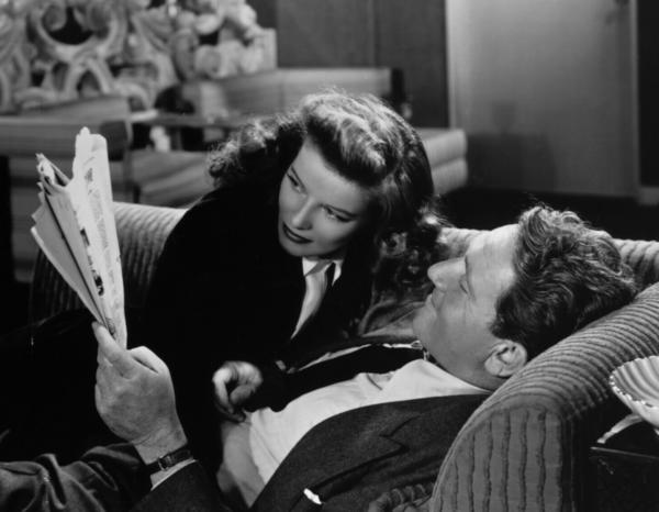 "Katharine Hepburn and Spencer Tracy star in ""Woman of the Year"" from 1942."