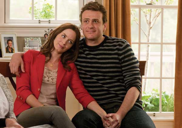 "The waiting is the hardest part for Emily Blunt and Jason Segel in the 2012 romantic comedy ""The Five-Year Engagement"" at 8 p.m. on HBO."