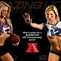 Ravens Patriots body paint