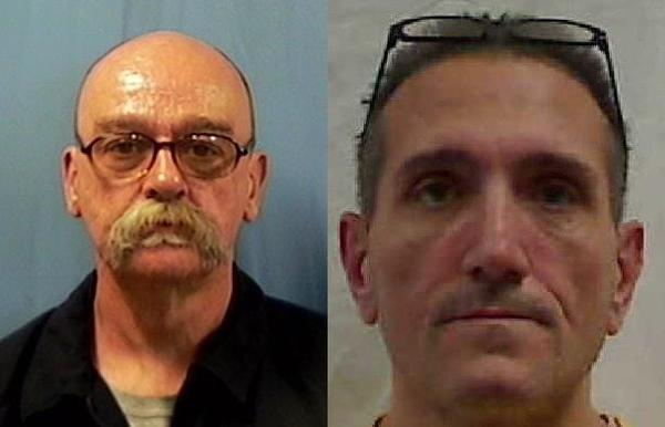 Anchorage police arrested Randy Lee Osborne, 56 (right), and John Lambert Voisin, 51 (left), Thursday in connection with Jan. 13 and Jan. 18 robberies of a Shell gas station at 3635 Mountain View Dr. Police say additional charges in other crimes may be forthcoming against the men.