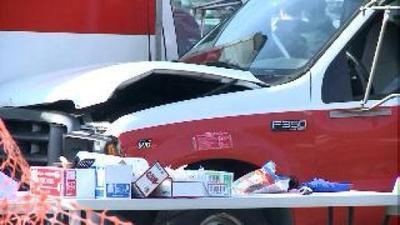 A U-Haul truck loaded with beer went out of control and killed a woman at a tailgate party before the Yale-Harvard football game at Yale Bowl in 2011. (Ryan Bernat)