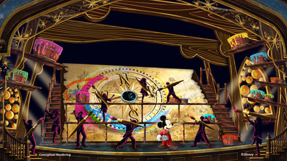 "Concept art of ""Mickey and the Magical Map"" coming to Disneyland."