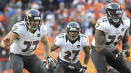 NEW ORLEANS — Soaking up the Super Bowl experience, Ravens left guard Kelechi Osemele spent Tuesday's Media Day, joking around with current teammates and hanging out with former NFL offensive lineman and fellow Iowa State alum Keith Sims.