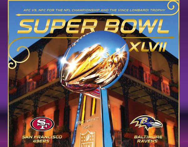 Screen shot of the Super Bowl XLVII Official NFL Game Program app for the iPad.