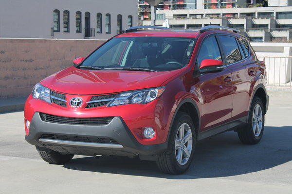 This 2013 Toyota RAV4 is the latest vehicle to roll into The Times' Test Garage. It's the all-wheel-drive XLE model, priced at $27,565.