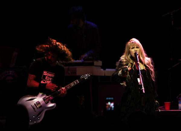 Stevie Nicks, whose recording sessions with Fleetwood Mac helped popularize Sound City, closed Thursday's show.