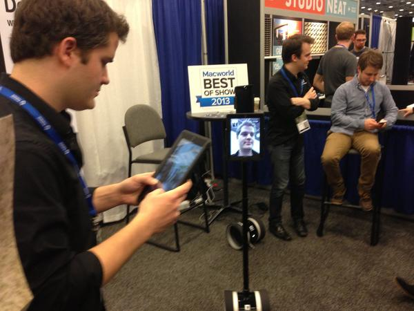 Double Robotics' Marc DeVidts demonstrates the Double.