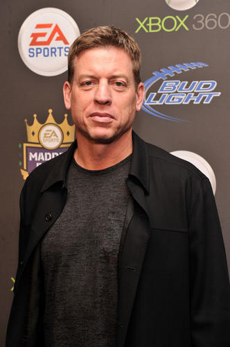Former NFL player Troy Aikman arrives at EA Sports' Madden Bowl XIX at the Bud Light Hotel in New Orleans.