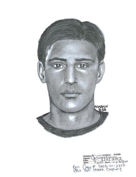 Detectives are searching for two robber and are circulating a composite sketch of one