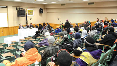 A charismatic group of snowboarders gathered for roll call at Seven Springs Mountain Resort Friday in preparation for the Burton U.S. Open Snowboarding Qualifiers.