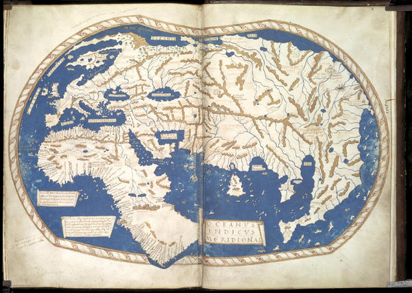 """With GPS and digital mapping, we are saying goodbye to the sheer beauty of maps,"" writes Simon Garfield, author of ""On the Map."" Above: Portuguese expeditions brought great strides in cartography, seen in this map, circa 1489."