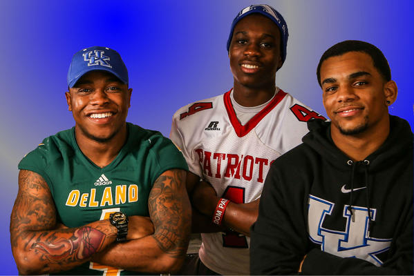 This Central Florida trio of DeLand RB JoJo Kemp, Orlando Freedom WR Jeff Badet and Winter Park DB Blake McClain is headed to the University of Kentucky.