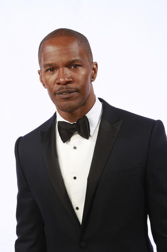 Jamie Foxx at the Los Angeles Times Photo booth.