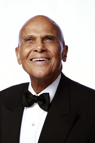 Harry Belafonte, winner of the Spingarn Medal, at the Los Angeles Times photo booth.