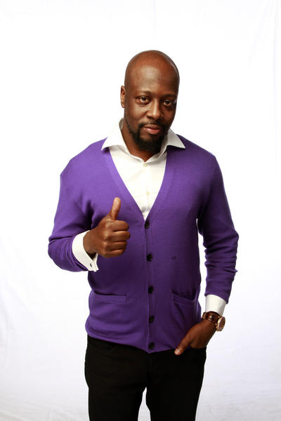 Wyclef Jean at the Los Angeles Times photo booth.