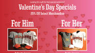 Great deals for him & her for Valentine's Day