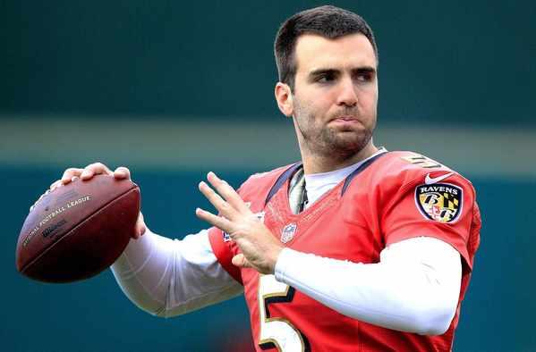 Ravens quarterback Joe Flacco during practice earlier this week in New Orleans.