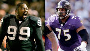 Former coach Bill Parcells, defensive tackle Warren Sapp, offensive tackle Jonathan Ogden and four others were elected to the Pro Football Hall of Fame on Saturday.