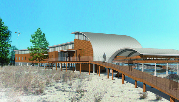 An artist's rendering of the Chesapeake Bay Foundation Brock Environmental Center