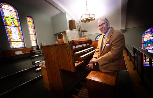 Julius Kovacs, 87, has been organist at St. Stephen of Hungary Catholic Church in Allentown for 70 years.