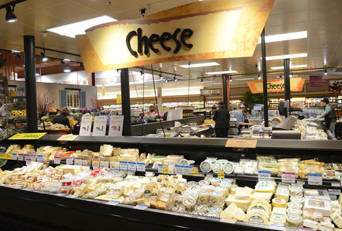 Wegmans' new and improved Cheese area is larger and more comprehensive than before. They are in the process of finishing off an expansion that includes a restaurant at the Allentown store.