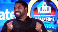 NEW ORLEANS — Jonathan Ogden, the first draft pick in Ravens history and the quintessential left tackle of his generation, was elected to the Pro Football Hall of Fame on Saturday in his first year of eligibility.