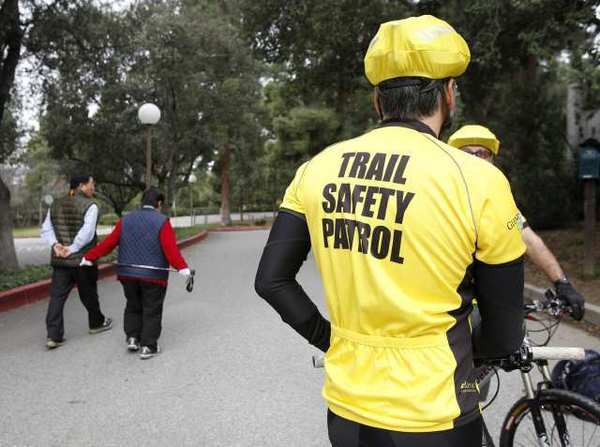 Glendale Parks & Open Space Foundation Trail Safety Patrol member Scott Moore at Brand Park in Glendale.