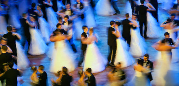 Debutants dance at the 8th Semper Opera Ball 2013 in Dredsen, eastern Germany.