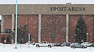 On Jan. 12, 2012, at Frost Arena in Brookings, the South Dakota State men's basketball team defeated the University of South Dakota with tip-off outdoor weather of minus 11, 16 mph wind for a wind chill of 34 below.