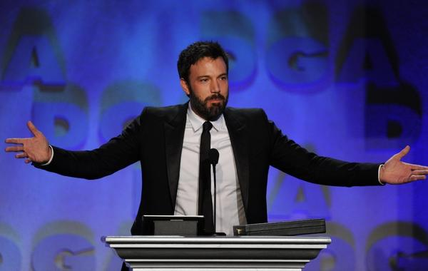 Ben Affleck after winning the DGA's Outstanding Directorial Achievement in Feature Film on Saturday night.