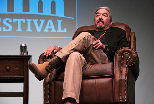 Actor Graham Greene appeared at the 2012 South Dakota Film Festival at Aberdeen's Capitol Theatre.