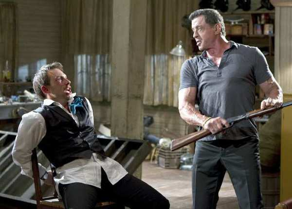 "Christian Slater plays businessman Marcus Baptiste and Sylvester Stallone is a hit man in the violent film ""Bullet to the Head,"" which has a plot hole as obvious as its title."