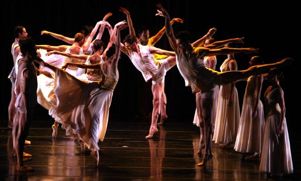 "Members of the Joffrey Ballet perform in a piece titled ""Age of Innocence."""