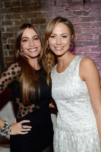 Actresses Sofia Vergara and Stacy Keibler at the Audi Forum New Orleans party.