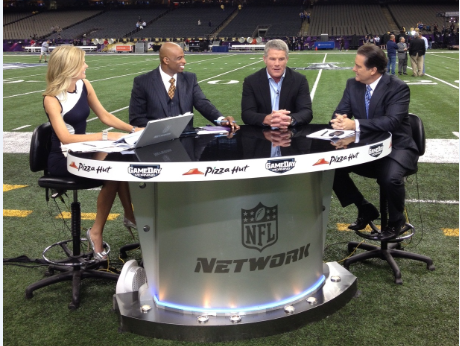 Melissa Stark, Deion Sanders, Brett Favre and Steve Mariucci - part of a great Super Bowl Sunday pre-game show.