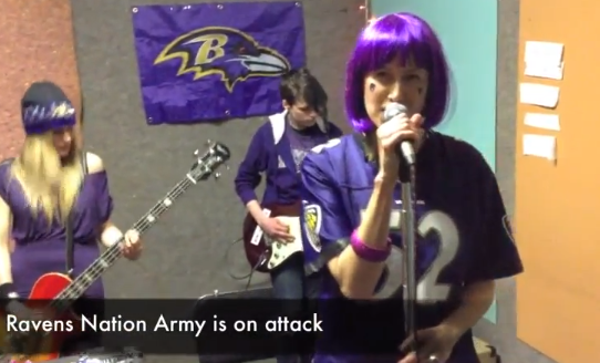 "Baltimore's the Fayettes uploaded ""Ravens Nation Army"" to YouTube Feb. 1."